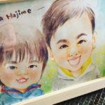 【記念日似顔絵】仲良し兄弟と、仲良しご夫婦似顔絵制作